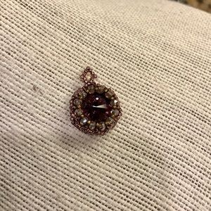 Handmade beaded pendant. Swarovski crystal